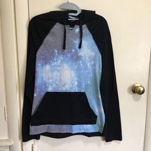 Tony Hawk galaxy pattern hoodie